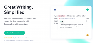 with grammarly you can ensure that you paper and work are mistake free. spend less time correcting your mistakes and start getting more done