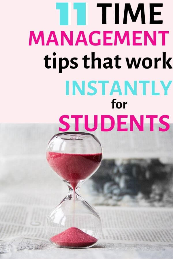 time management tips for students that work to enable productivity